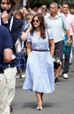 JENNA LOUISE COLEMAN Arrives at Wimbledon Tennis Tournament 07/09/2021