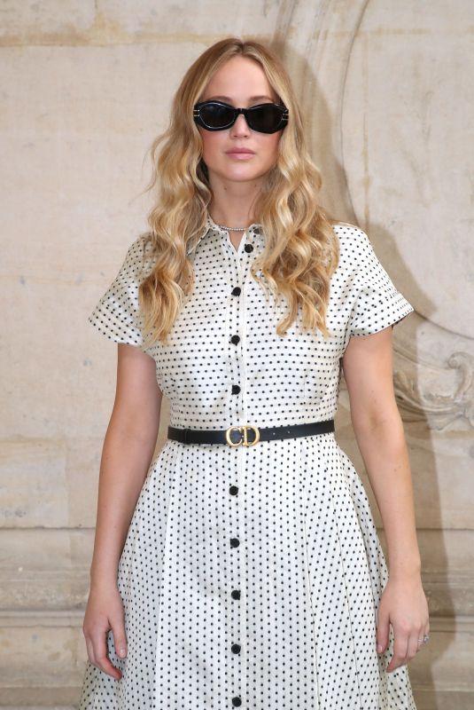 JENNIFER LAWRENCE at Christian Dior Show at Paris Fashion Week 07/05/2021