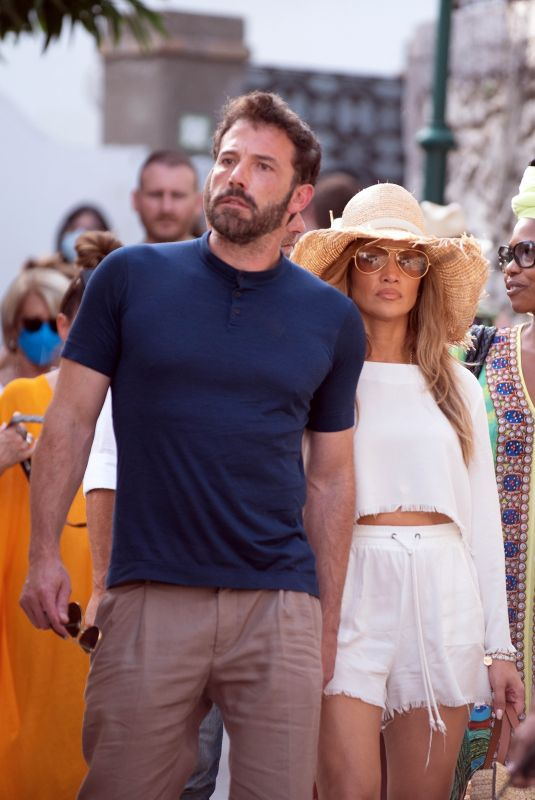 JENNIFER LOPEZ and Ben Affleck Out on Vacation in Capri 07/27/2021