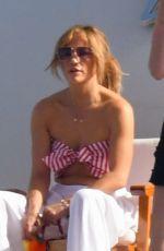 JENNIFER LOPEZ at a Yacht in Amalfi and Sorrento Coast 07/28/2021