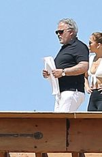 JENNIFER LOPEZ Checking Construction Site in Holmby Hills 07/17/2021