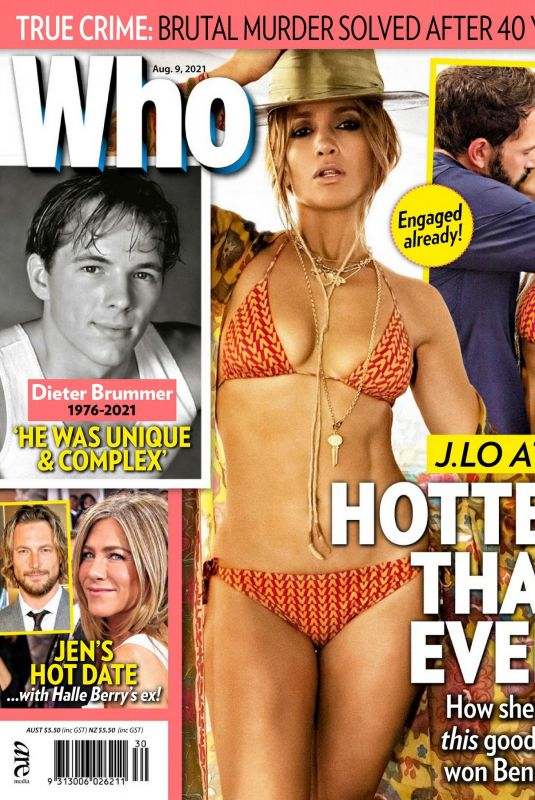 JENNIFER LOPEZ in Who Magazine, August 2021