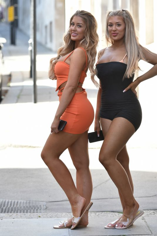 JESS and EVE GALE Heading to a Pool Party in Battersea 07/20/2021