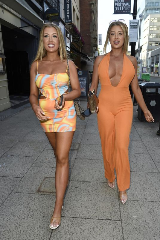 JESS and EVE GALLE Arrives at Their Miissy Empire Launch in Manchester 07/08/2021