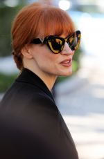 JESSICA CHASTAIN Arrives at Hotel Martinez in Cannes 07/09/2021