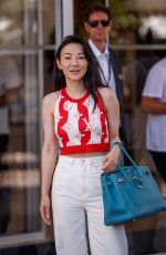 JESSICA WANG Leaves Hotel Martinez at 2021 Cannes Film Festival 07/16/2021