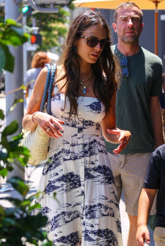 JORDANA BREWSTER Out for Lunch at Il Pastaio in Beverly Hills 07/09/2021