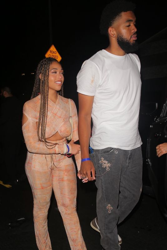 JORDYN WOODS and Karl Anthony Towns at Highlight Room in Los Angeles 06/30/2021