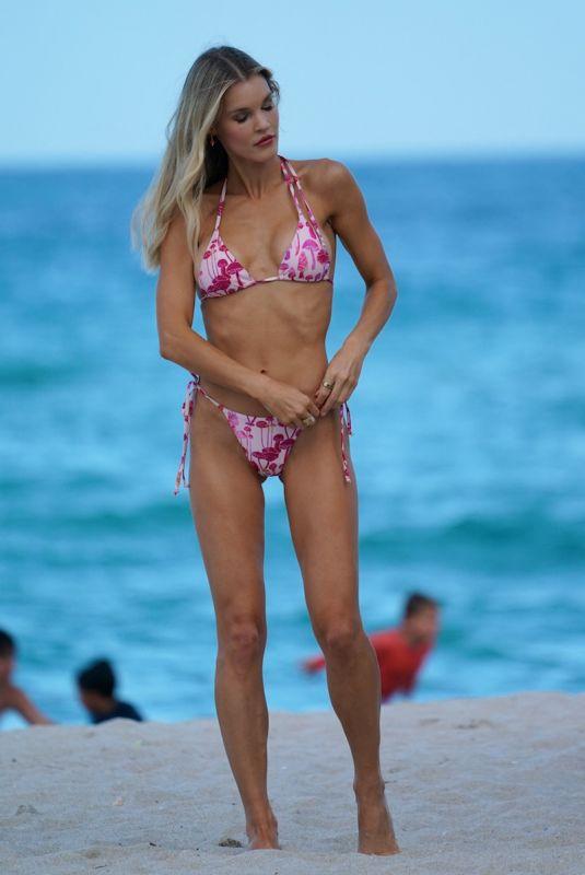 JOY CORRIGAN in Bikini at a Beach in Miami 07/08/2021