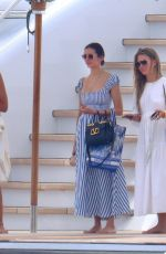 JULIANNE HOUGH and NINA DOBREV at a Yacht in Cannes 07/17/2021