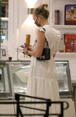 KARLIE KLOSS Out and Abouit in Saint-Tropez 07/27/2021