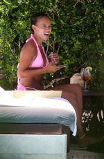 KARRUECHE TRAN in Bikini at a Pool in Miami 07/11/2021