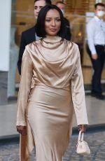 KAT GRAHAM Leaves Hotel Martinez at Cannes Film Festival 04/17/2021