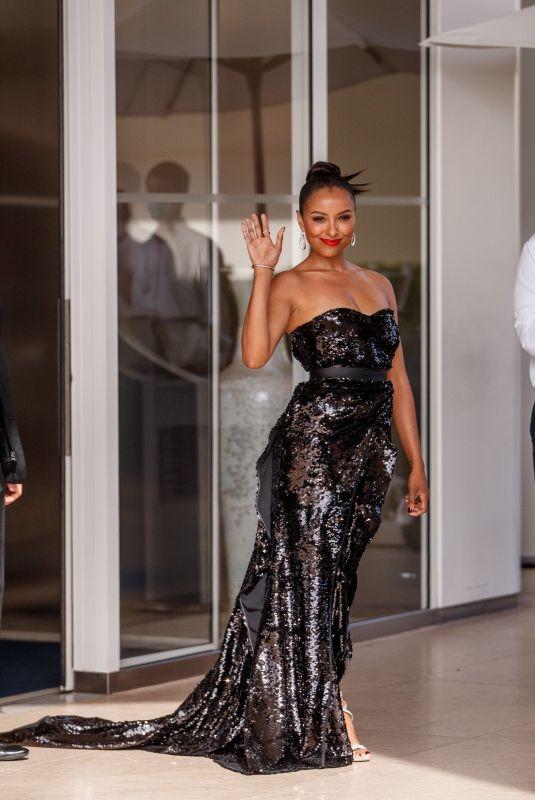 KAT GRAHAM Leaves Martinez Hotel at 74th Cannes Film Festival 07/15/2021