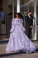 KAT GRAHAM Leaves Martinez Hotel at 74th Cannes Film Festival 07/17/2021