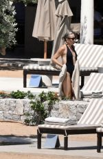 KATE HUDSON in Swimsuit at a Beach in Greece 07/03/2021