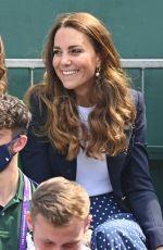 KATE MIDDLETON at Wimbledon Championships Day 5 in London 07/02/2021