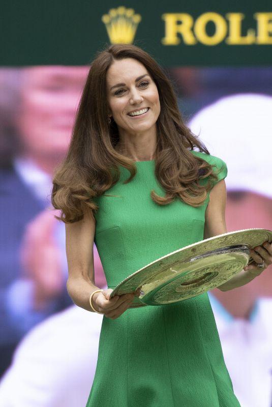 KATE MIDDLETON at Wimbledon Tennis Championships Women's Final in London 07/10/2021