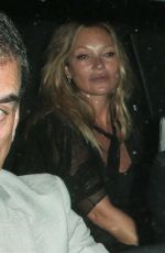 KATE MOSS Leaves Mick Jaggers' House Party in London 07/20/2021