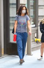 KATIE HOLMES Out in New York 07/26/2021