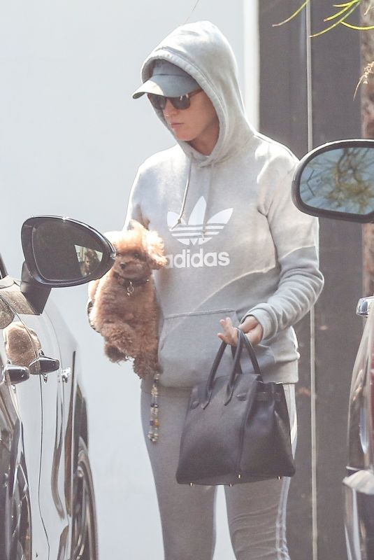KATY PERRY Out with Her Dog in West Hollywood 07/13/2021