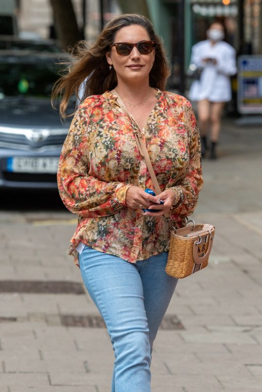KELLY BROOK Arrives at Heart FM in London 07/12/2021
