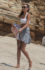 KELLY GALE at a Workout Session Photoshoot on the Beach in Malibu 07/16/2021