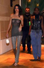 KENDALL JENNER and JUSTINE SKYE Heading to Delilah Grand Opening in Las Vegas 07/11/2021