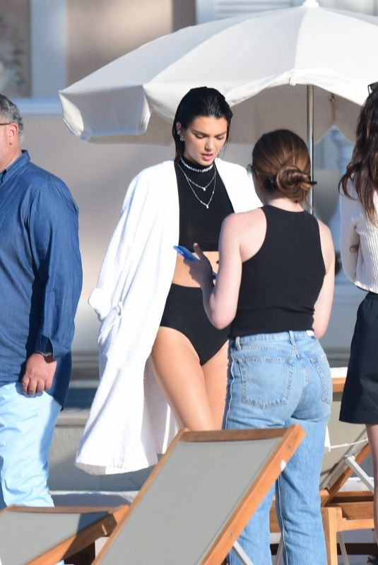 KENDALL JENNER at a Photoshoot in St. Tropez 07/02/2021
