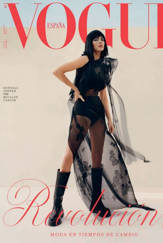 KENDALL JENNER in Vogue Magazine, Spain August 2021