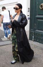 KIM KARDASHIAN Leaves Her Hotel in Rome 06/30/2021