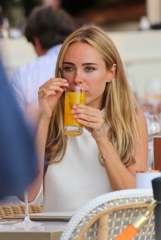KIMBERLEY GARNER at Cafe de Paris in Saint Tropez 07/21/2021