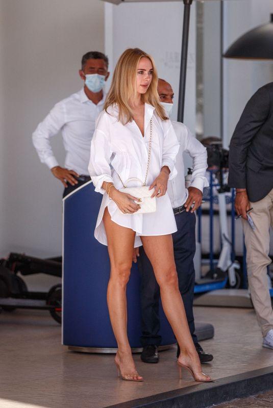 KIMBERLEY GARNER Outside Martinez Hotel in Cannes 07/14/2021