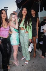 KIMORA LEE SIMMONS Out for Dinner with Her Daughters at Catch LA in West Hollywood 07/20/2021
