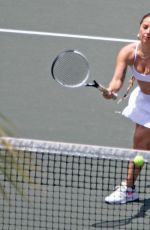 LADY GAGA at a Tennis Session in New York 07/25/2021