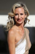 LADY VICTORIA HERVEY Leaves Hotel Martinez at 2021 Cannes Film Festival 07/11/2021