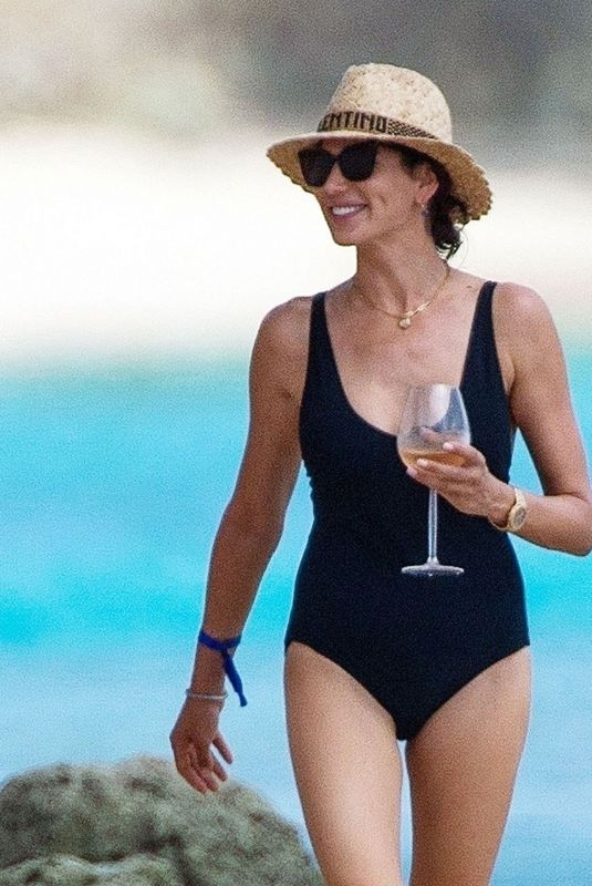 LAUREN SILVERMAN in Swimsuit at a Beach in Barbados 07/18/2021
