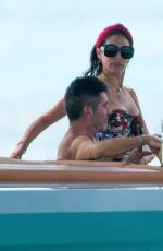 LAUREN SILVERMAN in Swimsuit at a Boat in Barbados 07/26/2021