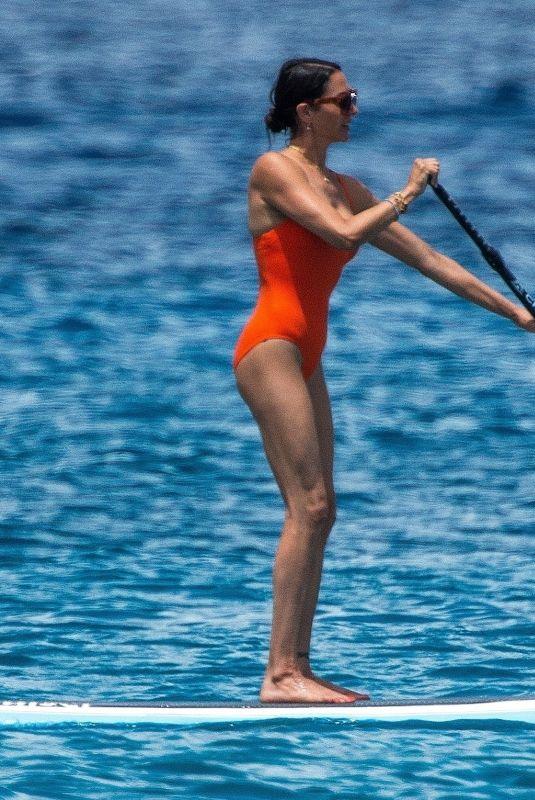 LAUREN SILVERMAN in Swimsuit Paddleboarding in Barbados 07/25/2021