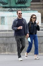 LILY COLLINS Out and About in Paris 06/28/2021