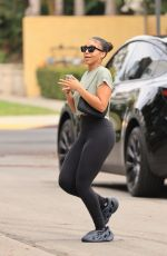 /LORI HARVEY Leaves Pilates Class in West Hollywood 07/27/2021