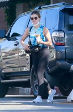LUCY HALE at Alfred Coffee in Studio City 07/31/2021