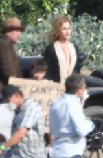 MAGOT ROBBIE on the Set of Babylon in Los Angeles 07/13/2021
