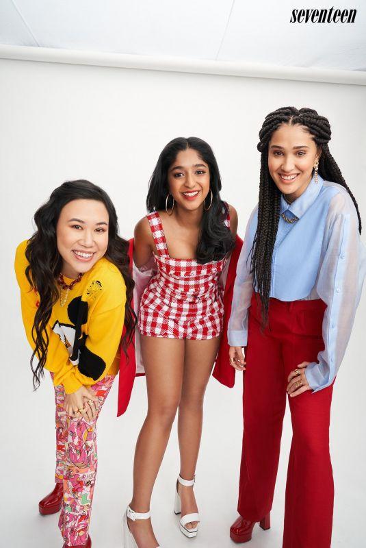MAITREYI RAMAKRISHNAN, LEE RODRIGUEZ and RAMONA YOUNG for Seventeen Magazine, July 2021