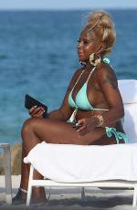 MAR J. BLIGE in Bikini at a Beach in Miami 07/25/2021