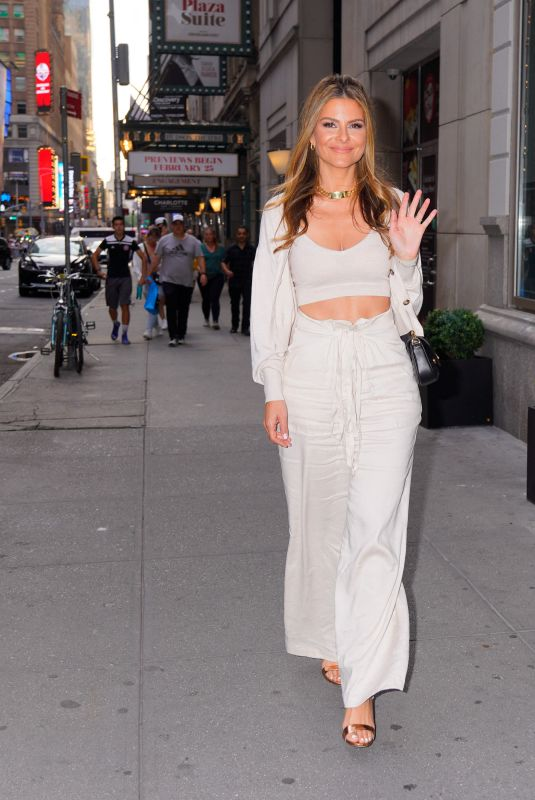 MARIA MENOUNOS Out for Dinner at Hunt & Fish Club in New York 07/28/2021