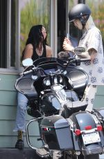 MEGAN FOX and Machine Gun Kelly Out Motorbiking in Los Angeles 07/16/2021