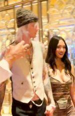 MEGAN FOX and MGK at Wynn Hotel in Las Vegas 07/09/2021