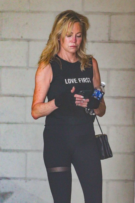 MELANIE GRIFFITH Leaves a Gym in Los Angeles 07/06/2021