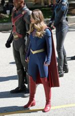 MELISSA BENOIST on the Set of Supergirl in Vancouver 07/30/2021